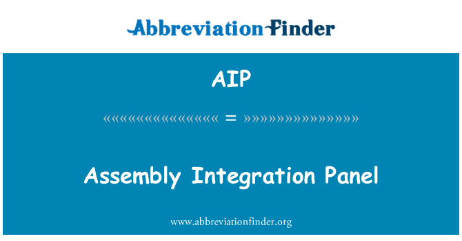 AIP: Assembly Integration Panel