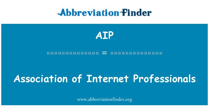 AIP: Association of Internet Professionals