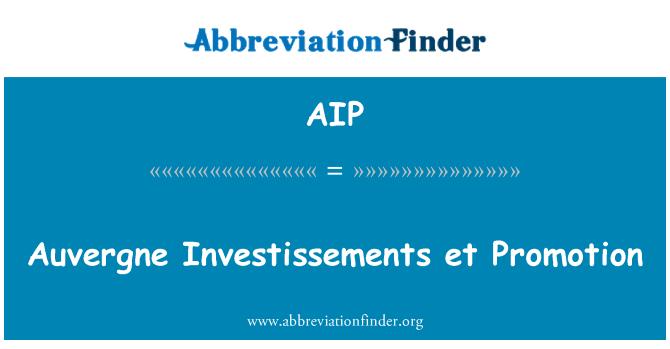 AIP: Auvergne Investissements et Promotion