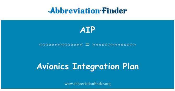 AIP: Avionics Integration Plan