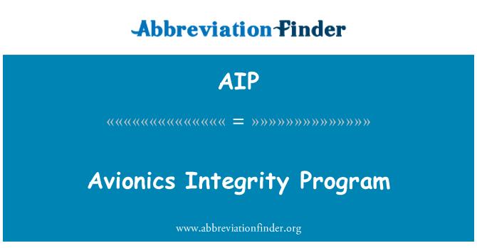 AIP: Avionics Integrity Program