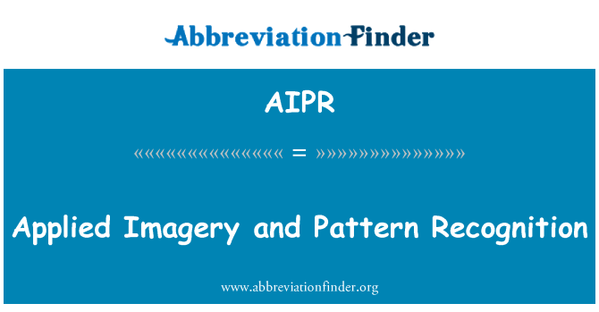 AIPR: Applied Imagery and Pattern Recognition