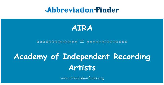AIRA: Bağımsız Akademi kayıt sanatçı