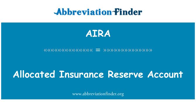 AIRA: Eraldatud kindlustus reservi konto