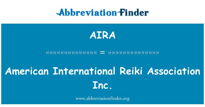 AIRA: Amerikan Uluslararası Reiki Derneği A.ş.