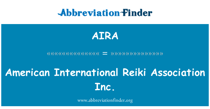 AIRA: American International Reiki ühingu Inc