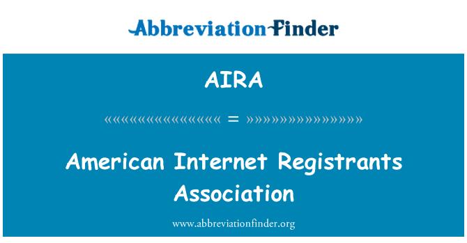 AIRA: Amerikan Internet sicil memuru Derneği