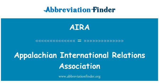AIRA: Appalachian rahvusvaheliste suhete Assotsiatsioon
