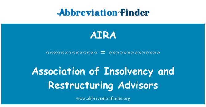 AIRA: Ühingu maksejõuetus ja restruktureerimine Advisors
