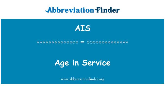 AIS: Age in Service