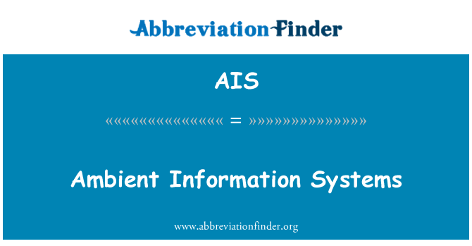 AIS: Ambient Information Systems