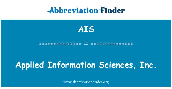 AIS: Applied Information Sciences, Inc.