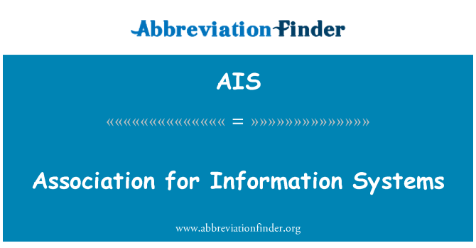 AIS: Association for Information Systems
