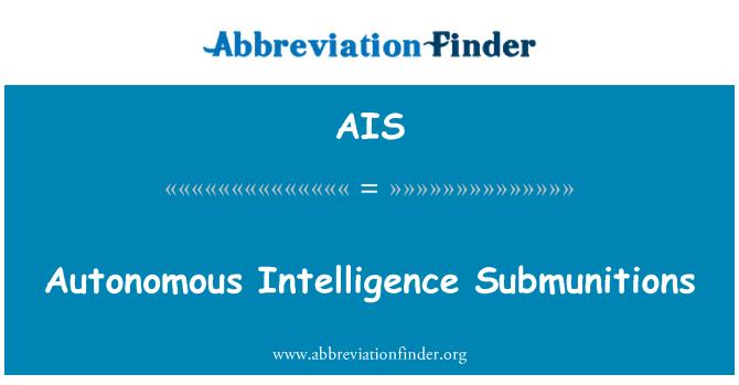 AIS: Autonomous Intelligence Submunitions
