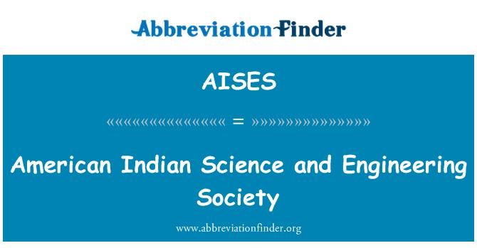 AISES: Indio americano de la ciencia y la sociedad de ingeniería