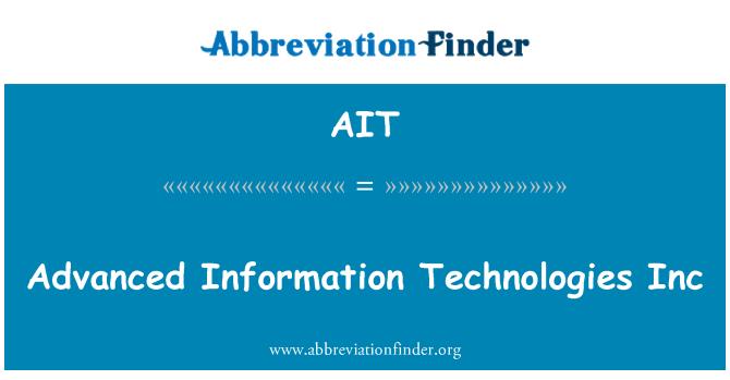 AIT: Advanced Information Technologies Inc