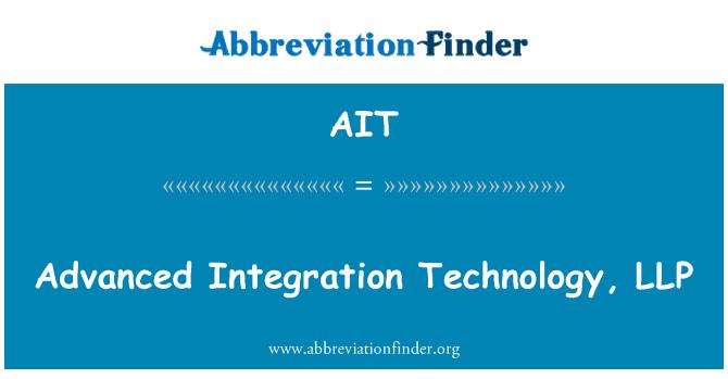 AIT: Advanced Integration Technology, LLP