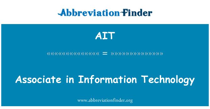 AIT: Associate in Information Technology