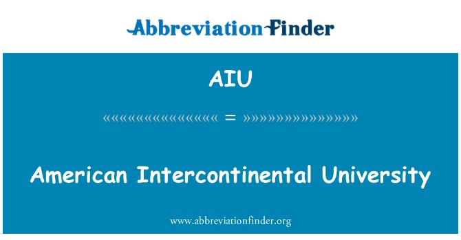 AIU: American Intercontinental University