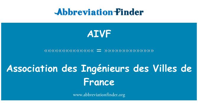 AIVF: Association des Ingénieurs des Villes de France