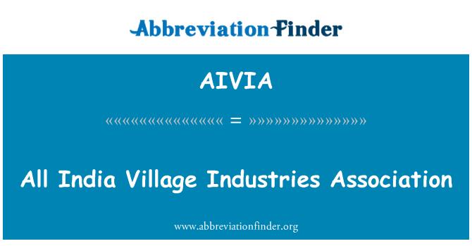 AIVIA: Bütün Hindistan köy sanayii Derneği