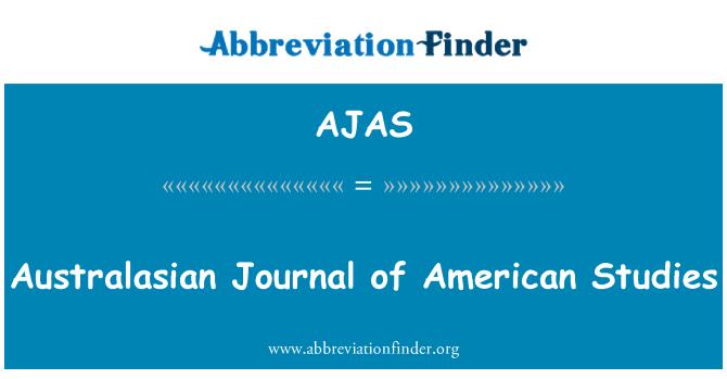 AJAS: Australasian Journal of American Studies
