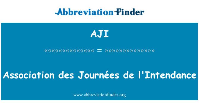 AJI: Association des Journées de l'Intendance