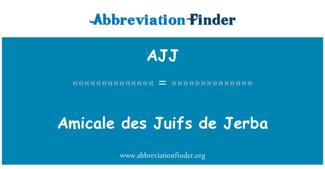 AJJ: Amicale des Juifs de Jerba