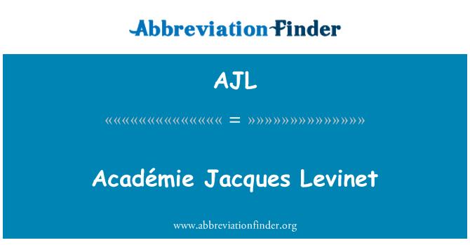 AJL: Académie Jacques Levinet