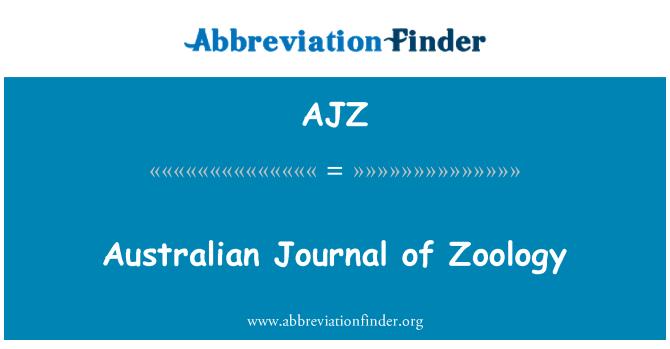 AJZ: Australian Journal of Zoology