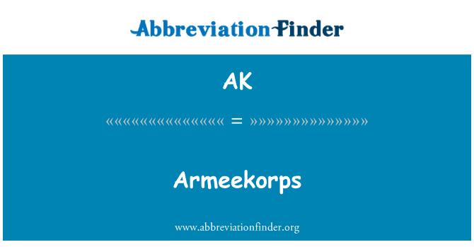 AK: Armeekorps