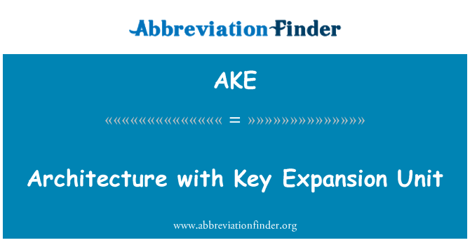 AKE: Architecture with Key Expansion Unit