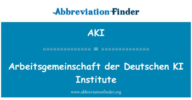 AKI: Arbeitsgemeinschaft der Deutschen KI Institute