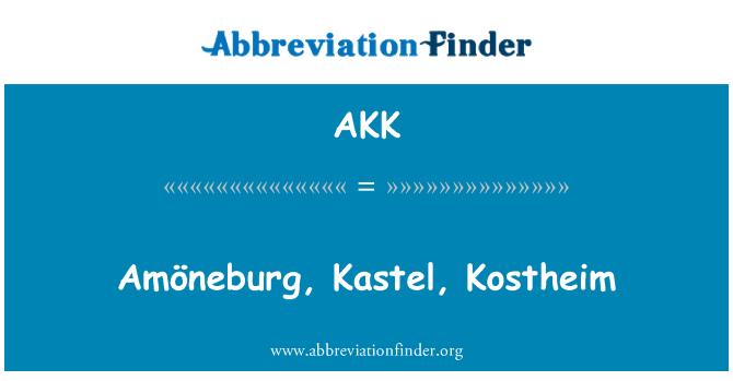 AKK: Amöneburg, Kastel, Kostheim