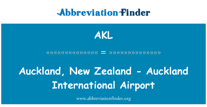AKL: Auckland, New Zealand - Auckland International Airport
