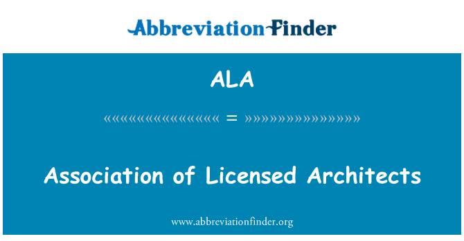 ALA: Association of Licensed Architects