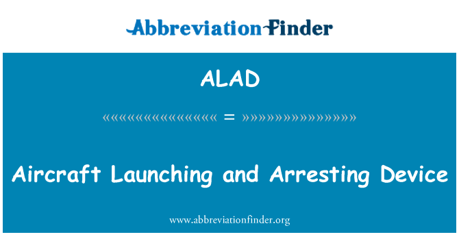 ALAD: Aircraft Launching and Arresting Device