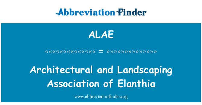 ALAE: Elanthia mimari ve peyzaj Derneği
