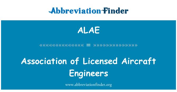 ALAE: Litsentseeritud õhusõiduki inseneride Liit