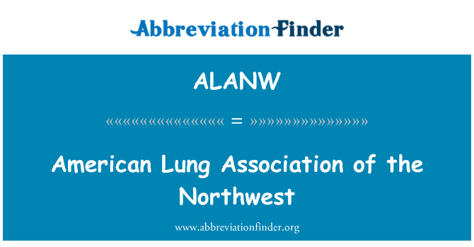ALANW: American Lung Association of the Northwest