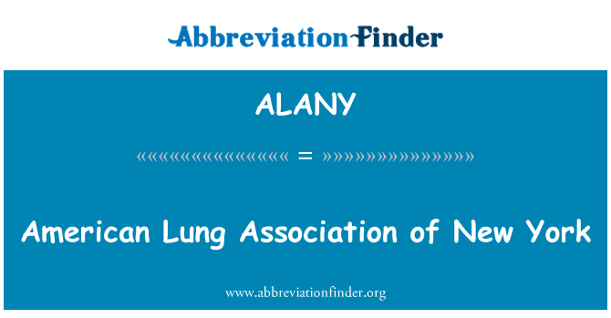 ALANY: American Lung Association of New York