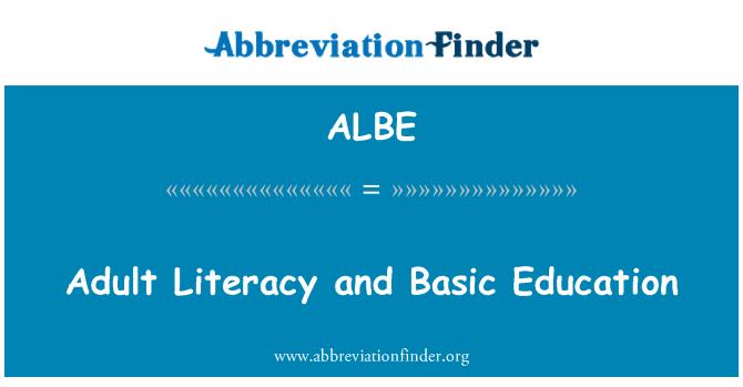 ALBE: İşlevsel Yetişkin Okuryazarlığı ve temel eğitim