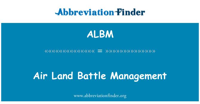 ALBM: Batalla aérea ordenamiento