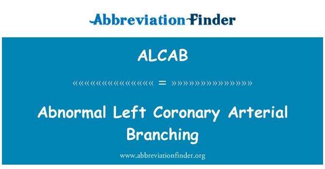 ALCAB: Abnormal Left Coronary Arterial Branching