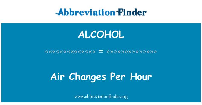 ALCOHOL: Perubahan udara sejam