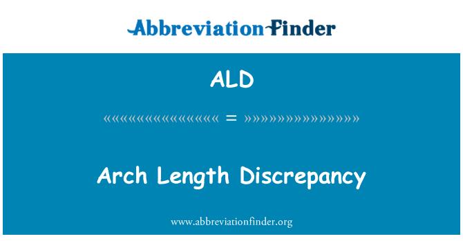ALD: Arch Length Discrepancy