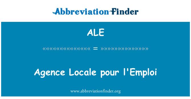 ALE: Agence Locale pour l'Emploi