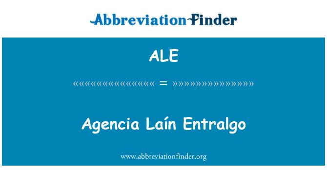 ALE: Agencia Laín Entralgo