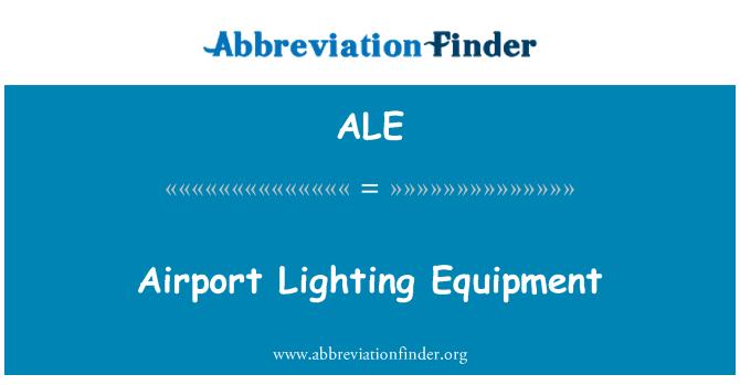 ALE: Airport Lighting Equipment