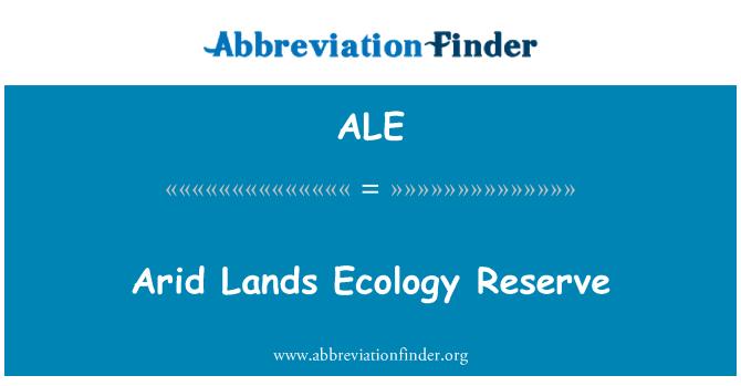 ALE: Arid Lands Ecology Reserve